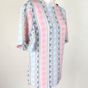 Aztec Multicolored Tunic Pullover Blouse Sz 16P